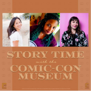 Story time with Comic Con Museum Graphic